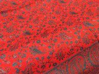 Двухсторонний красный индийский палантин, купить в Москве