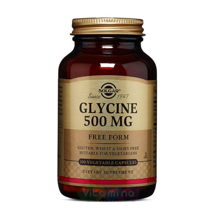 Солгар L-глицин 500 мг, 100 капс