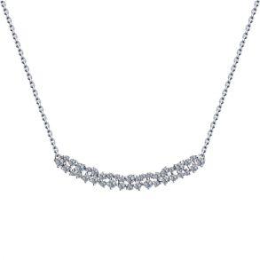 Колье из серебра с фианитами 94070281 SOKOLOV