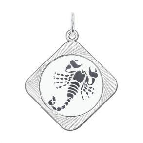 Подвеска «Знак зодиака Скорпион» 94100074 SOKOLOV