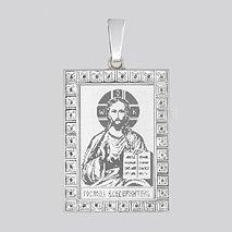 Серебряная нательная иконка «Господь Вседержитель» 94100172