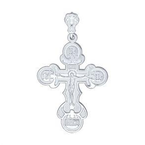 Крест из серебра 94120049 SOKOLOV