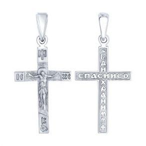 Крест из серебра 94120135 SOKOLOV