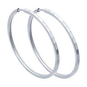 Серьги конго из серебра с алмазной гранью 94140075 SOKOLOV