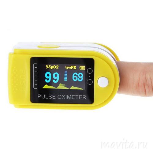 Пульсоксиметр на палец с LED дисплеем