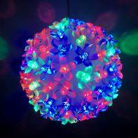 Описание Эксклюзивный светодиодный LED шар с лампами в виде цветов Led Light. 500 ламп.