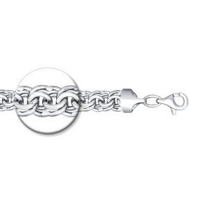 Браслет из серебра с алмазной гранью БИСМАРК 965141204 SOKOLOV