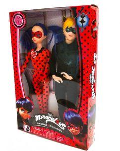 """Набор из 2-х кукол Леди Баг и Андриан в образе Черного кота  30 см""""Леди Баг и Супер Кот"""""""