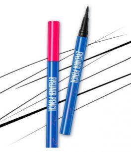 """Устойчивая ультрачерная подводка-фломастер для глаз  """"Eyebrow Pencil""""  от «BIOAQUA».(0437)"""
