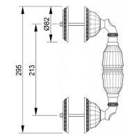 Ручка-скоба Mestre 0N6204. Длина 295 мм. схема
