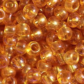 Бисер чешский 11050 янтарный прозрачный радужный Preciosa 1 сорт