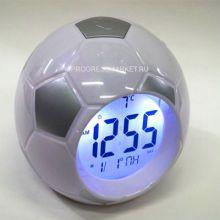 Настольные говорящие часы Футбольный мяч Atima AT-609TI,(цвет серый)