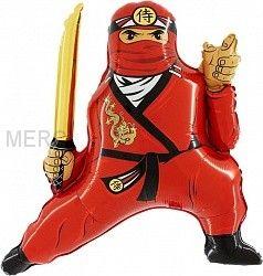 """Шар фигура """"Ниндзя, Красный"""""""