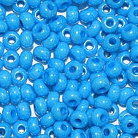 Бисер чешский 16165 голубой непрозрачный Preciosa 1 сорт