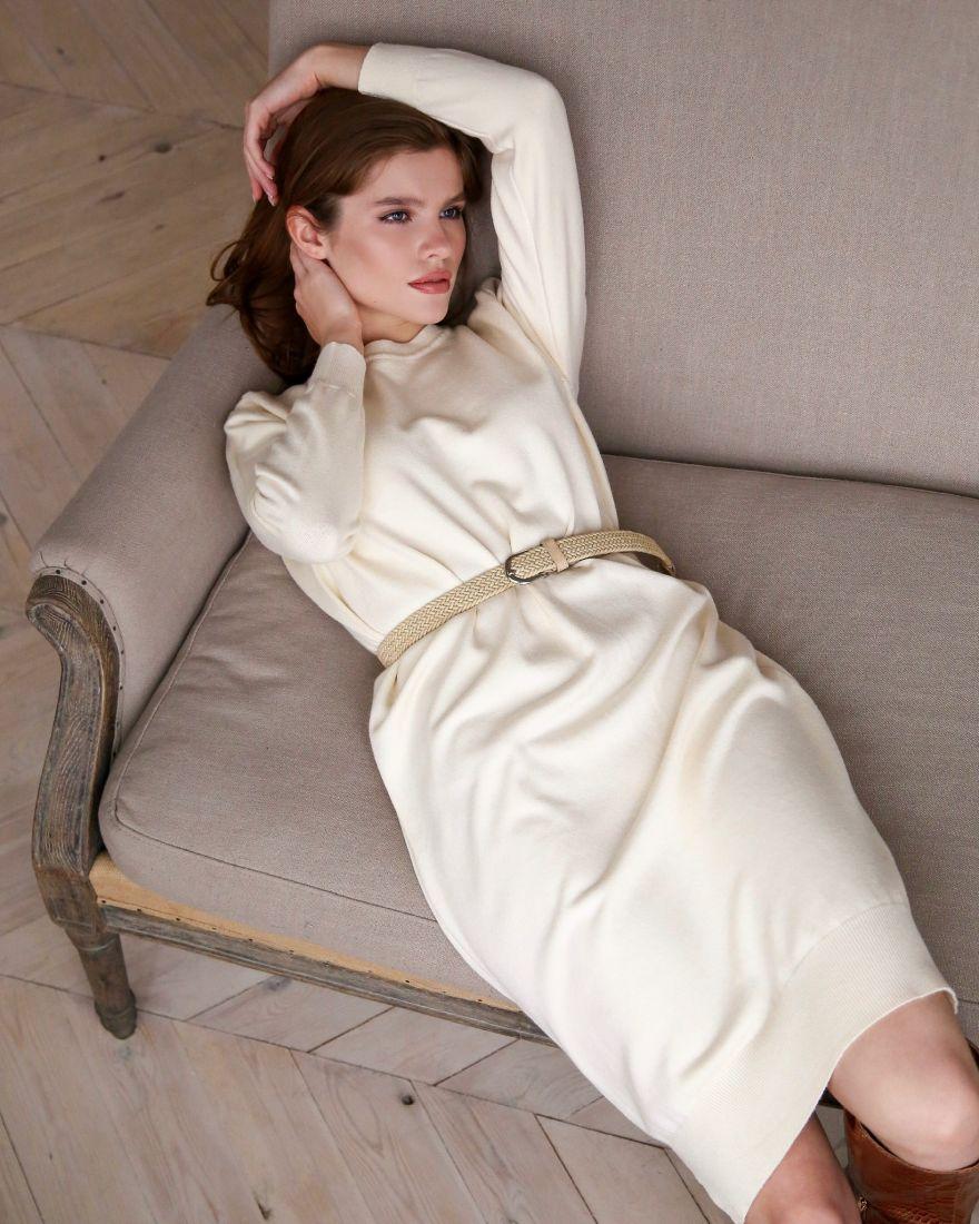 Платье-вязаное кокон 9061*