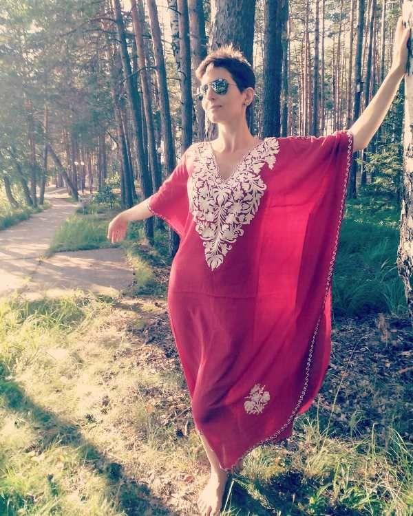 Платья из шёлка жоржет, разные цвета (отправка из Индии)