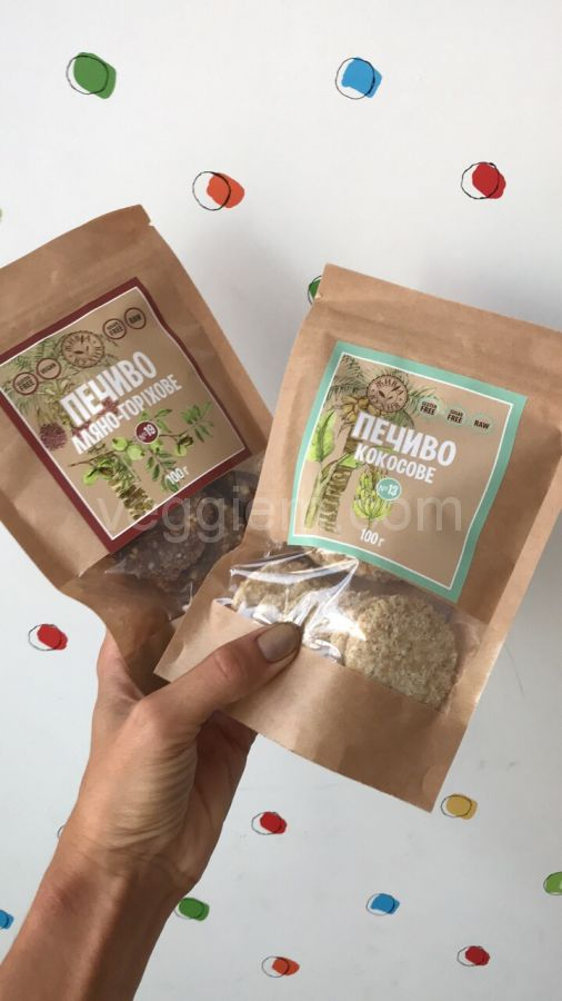 """Печенье кокосовое """"Живая Кухня"""",100 грамм"""