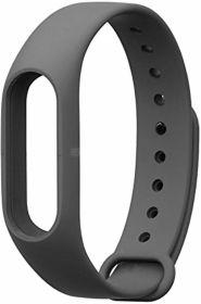 Cменный ремешок для браслета Xiaomi Mi Band 2 (темно-серый)