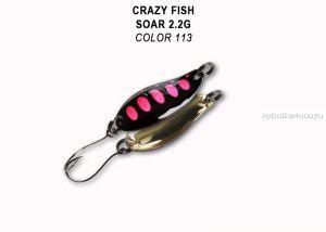 Колеблющаяся блесна Crazy Fish Soar 2,2 гр / цвет: 113