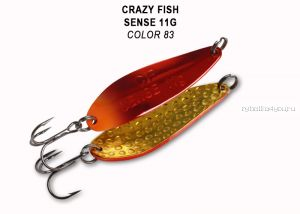 Колеблющаяся блесна Crazy Fish Sense 11 гр / цвет: 83