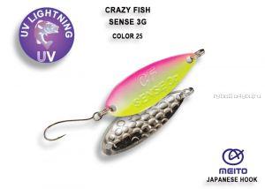 Колеблющаяся блесна Crazy Fish Sense 3 гр / цвет: 25-CPK