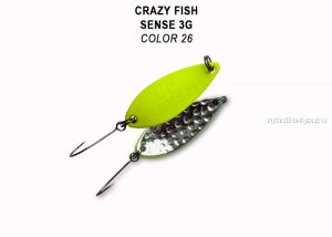 Колеблющаяся блесна Crazy Fish Sense 3 гр / цвет: 26