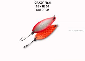 Колеблющаяся блесна Crazy Fish Sense 3 гр / цвет: 35