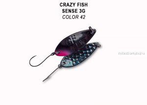 Колеблющаяся блесна Crazy Fish Sense 3 гр / цвет: 42