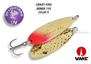 Колеблющаяся блесна Crazy Fish Stitch 6,5 гр / цвет: 70-GR