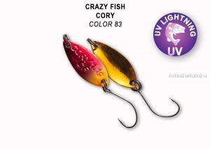 Колеблющаяся блесна Crazy Fish Cory 1,1 гр / цвет: 83