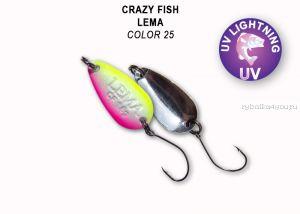 Колеблющаяся блесна Crazy Fish Lema 1,6 гр / цвет: 25