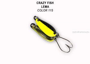 Колеблющаяся блесна Crazy Fish Lema 1,6 гр / цвет: 115
