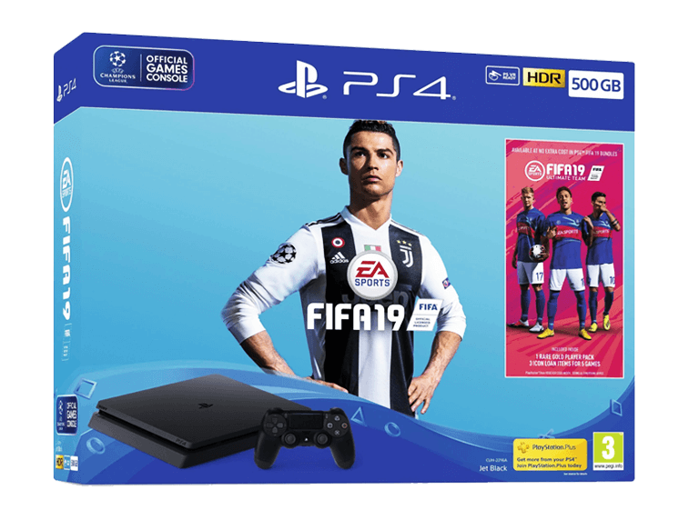Sony Playstation 4 Slim 500 ГБ (CUH-2216A) + FIFA 19 (рус)