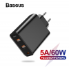 Зарядное устройство Baseus Quick Charge 4,0 + USB-C 60W PD для нотбуков Xiaomi/Apple