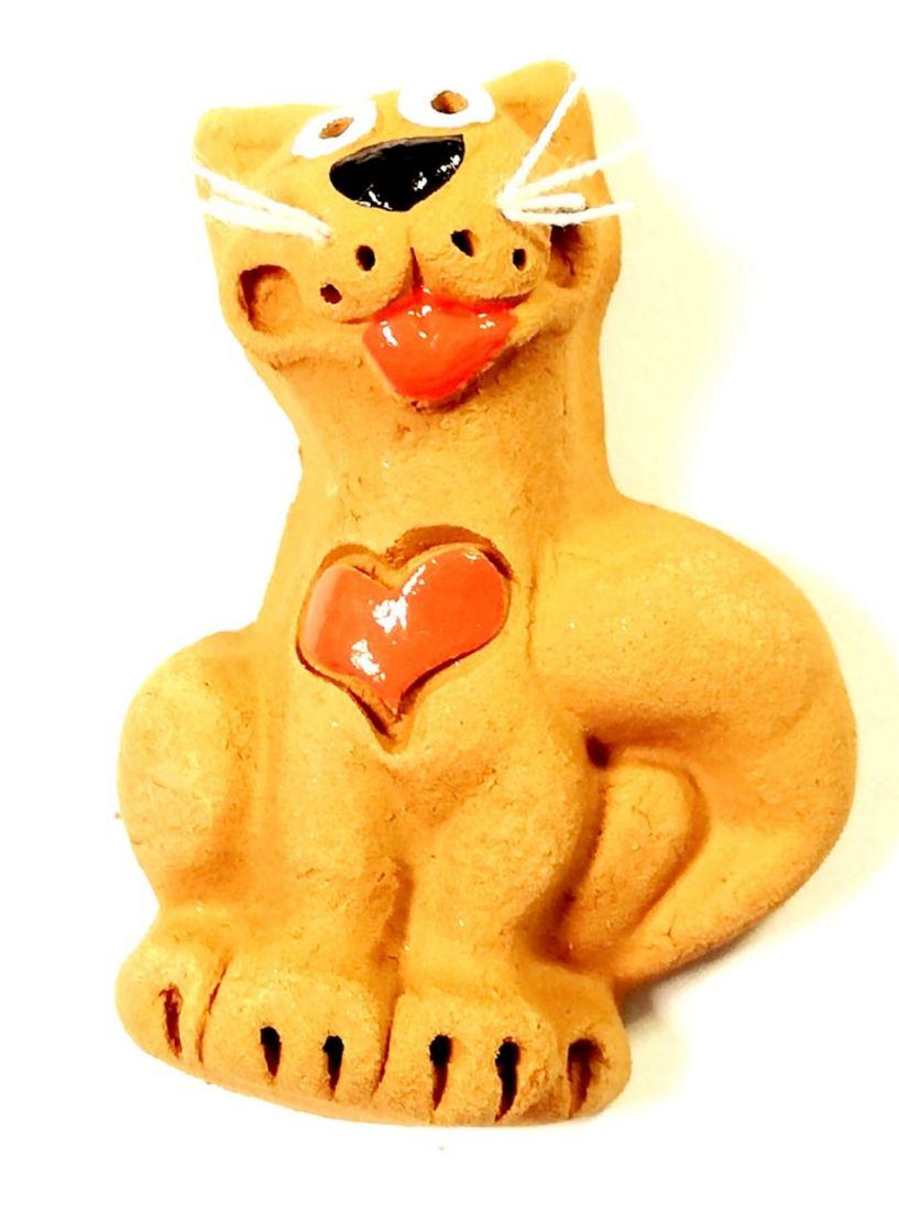 Магнит кот с сердцем