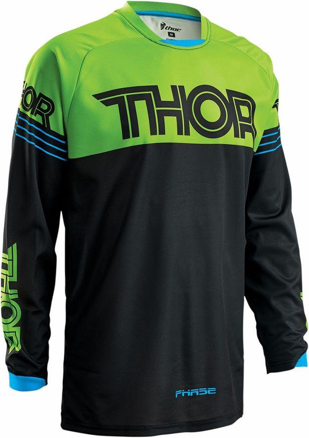 Thor - Phase Hyper Black/Green джерси, черно-зеленое