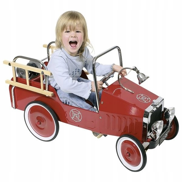 Пожарная машина на педалях РЕТРО 3 GOKI 14069