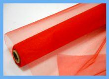 Органза-снег в рулоне, красный, 0,70*10 м