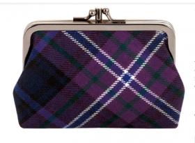 """Шотландский кошелёк (клатч) тартан """"Шотландия навсегда"""" SCOTLAND FOREVER MODERN TARTAN DOUBLE MEDIUM PURSE"""