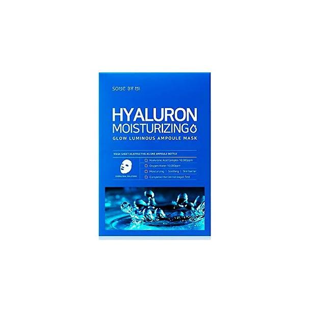 Маска тканевая ампульная c гиалуроновой кислотой Some By Mi Hyaluron Moisturizing Glow Luminous Ampoule Mask
