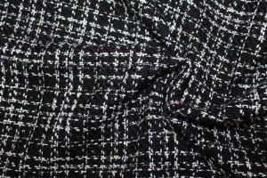 """Пальтовая ткань Твид """"Шанель"""" с люрексом 360-217254/C#1"""