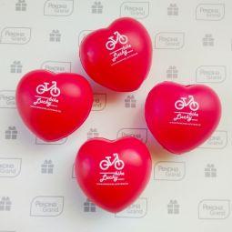 антистрессы сердце с логотипом