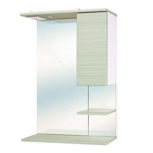 "Шкаф-зеркало ""Дели Олива"" 580 мм со светом (правое)"