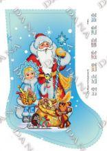 DANA-3180ч. Дед Мороз и Снегурочка. Сапожок для вышивки бисером. А3 (набор 725 рублей)