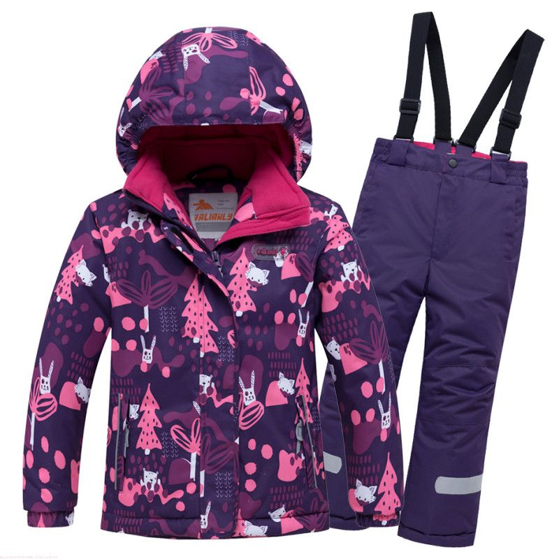 Костюм зимний Valianly 8928 фиолетовый