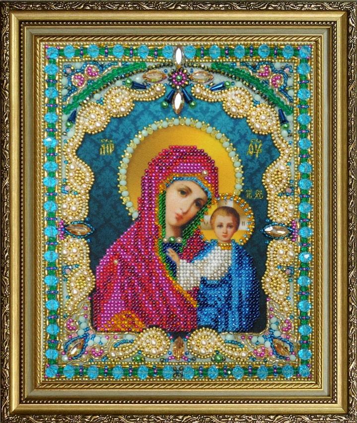 картинка бисером божья матерь
