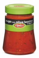 Соус томатный оливки и каперсы 290 г, Sugo con olive leccino e capperi D'Amico 290 gr
