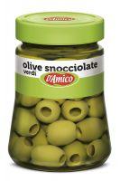 Оливки зеленые без косточки 290 г, Olive verdi snocciolate D'Amico 290 gr.