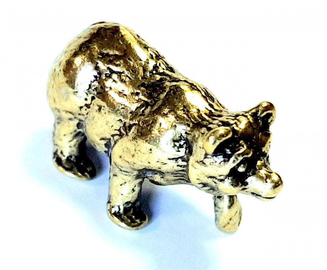 Фигурка Медведь Латунь
