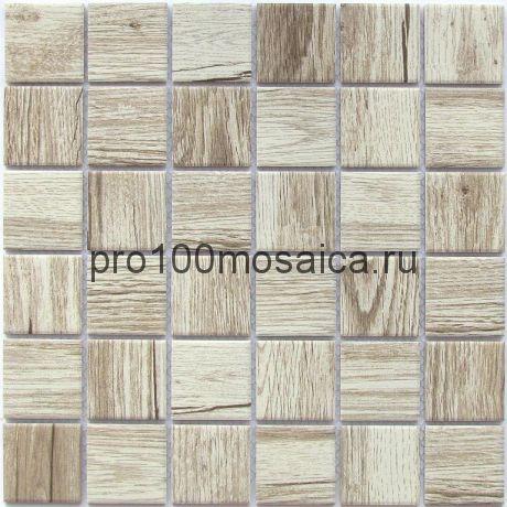 Wooden Light Мозаика из керамогранита, чип 48*48, размер, мм: 300*300*6